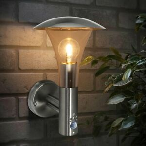 Outdoor Wall Light Brushed Stainless Steel Outside Security Lights Motion Sensor