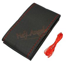 DIY Car Truck Auto Steering Wheel PU Leather Cover With Needles and Red Thread