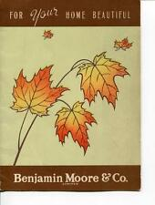 BENJAMIN MOORE PAINT FLYER FREE INTERIOR DECORATING SERVICE OFFER ADVERTISING