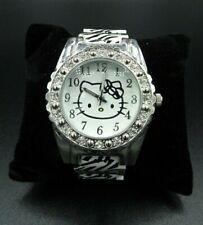 Sanrio Hello Kitty Wristwatch Animal Print Zebra Inspired Rhinestones Wristband