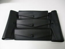 5 Hard Shell Eye Glass Cases with snap closure, Black in Color, Foldable Sides