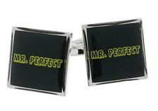 Mr Perfect Cufflinks Men Groom Wedding Wrester