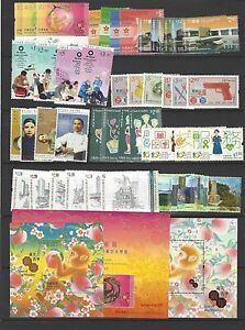 China Hong Kong 2016  Whole Year of Monkey Full stamps set + Gold + SILK CERT
