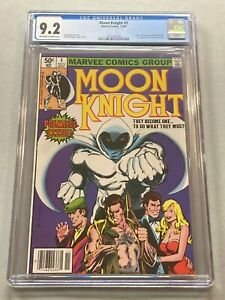Moon Knight 1 CGC 9.2 OFF WHITE PAGES Origin Moon Knight 1st Bushman NEWSSTAND