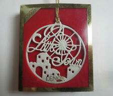Lenox Ornament- Songs Of Christmas- Oh Little Town- 4th in a Series