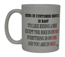 Best Funny Coffee Mug Tea Cup Gift Novelty Being In Customer Service Is Easy