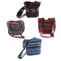Bohemian Hippie Crossbody Bag Hobo Sling Bag Handmade Messenger Shoulder Bag