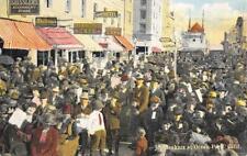 "Joy Seekers at Ocean Park, California ""Diamond Cafe"" 1924 Vintage Postcard"