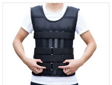 44lbs Adjustable Weighted Workout Weight Vest Fitness Training Waistcoat Black