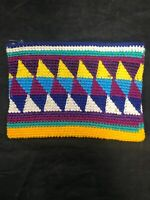 Vintage Geometric Design Hand Woven Coin Purse  Pouch  Guatemalan Wallet NOS