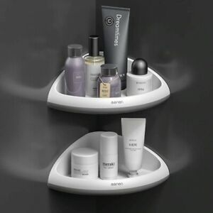 Corner Shelf Bathroom Storage Bath Rack Shower Organizer Wall Mounted Adhesive