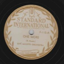 Espe Musette Or on 78 rpm Standard F115: One More/Pot Luck Polka; Cond V+