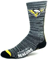 Pittsburgh Penguins Hockey Black and Gray RMC Vortex Crew Socks