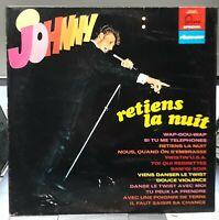 JOHNNY HALLYDAY - RETIENS LA NUIT - LP 33 TOURS 6444004 - Label Bleu B.I.E.M -