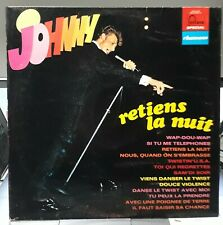 JOHNNY HALLYDAY - RETIENS LA NUIT - LP 33 TOURS 6444004 - Label Bleu B.I.E.M -