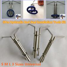 Portable 3Pcs Car Hydraulic Cylinder Piston Rod Seal U-cup Installation Tool Kit
