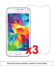 3x Samsung Galaxy S5 Mini Anti-Scratch Screen Protector w/ cloth