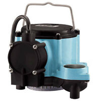 Submersible Sump Pump - 46 GPM - NO SOLIDS - 115 Volt - 1 Ph - 1/2 HP - 18' Suct