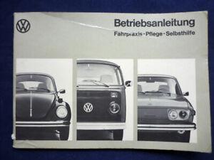 Auto, Betriebsanleitung  VW, Typ 1 (VW 1200/1300),2 und 4 von 1974    (Art.4666)