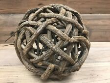 "Large Vine Ball Sculpture 8"" Diameter"
