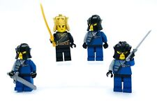 LEGO 4 NEW CASTLE MEN MINIFIGURES FIGURES KING WITH GUARDS AND SWORDS