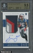 2018 National Treasures #171 Sony Michel RC RPA Patch AUTO /99 BGS 9.5