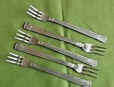 Farberware Stainless 5 Seafood/Cocktail Forks Tiamo Pattern Indonesia Ridges