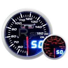 Prosport 52mm Smoked White Amber Oil Temp Deg C Gauge with Dual Display