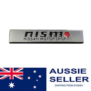 NISMO Nissan Motorsports International Embossed Aluminium Premium Stick On Badge