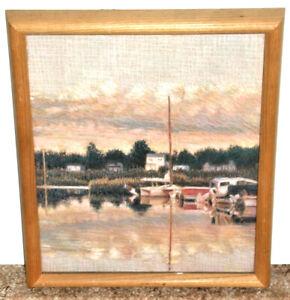 Nautical Scene Young's Marina by Bothwell  Hirschl & Adler Galleries