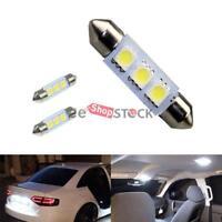 Ampoule navette led auto 38-39 MM SV8 plafond plaque coffre 3 SMD 5050 Blanc 2pc