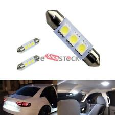Ampoule navette led auto 38-39 MM SV8 plafond plaque coffre 3 SMD 5050 Blanc 2pc