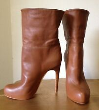 Designer MAX KIBARDIN Mallorca ankle boots tan leather retail at $1300 ladies 37
