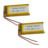 2pcs 3.7V 450mAh 602040 Rechargeable Li-Polymer LiPo battery for MP4 GPS Sat Nav