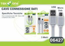 Cavo Dati Usb TeKone 12A Connettore Microusb Micro Usb 3MT Smartphone hsb