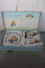 PAUL CARDEW ALICE IN WONDERLAND CAFE SET W/ 2 TEA CUPS AND 2 SAUCERS W/Box