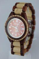 Reloj de madera Bewell hombre fecha Sándalo Arce 41mm Producto A regalo genial
