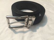 NEW $285 Montblanc Navy  Suede Cut To Size Belt For Men 100% Authentic. .