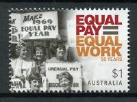 Australia 2019 MNH Equal Pay Equal Work 1v Set Equal Women's Rights Stamps