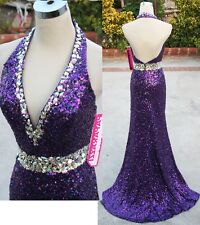 NWT PAPARAZZI by MORI LEE 93013 Purple $398 Prom Gown 2