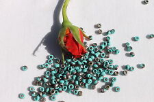 6/0 Toho Seed Beads 83-Frosted Turquoise Apollo  /10 grams # Y857F