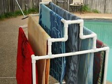 Six (6) Towel Rack for your swimming pool and spa.made in the Usa