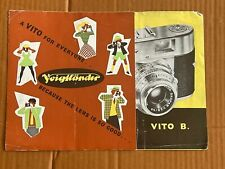 Voigtlander Vito B / BL,  3 Page fold out Paper Brochure, 1950's / 60's