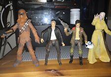 Star Wars Black Series 4 figures. Han Solo, Chewbacca, Poe Dameron and Snoke