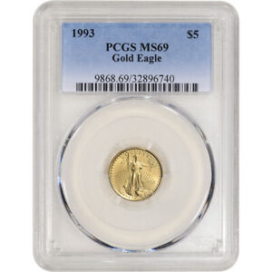 1993 American Gold Eagle 1/10 oz $5 - PCGS MS69