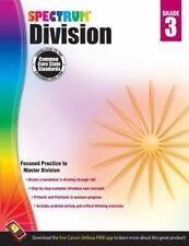 SPECTRUM MATH - Division Workbook,  Grade 3 by Carson Dellosa