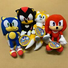 """Sonic the Hedgehog Plush Toy Factory Tails Knuckles Shadow 12"""" Inches Authentic"""