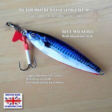Slowfall Rictor Mk2 Slow Jigs Blue Mackerel Realfish snap and sharp twin hooks