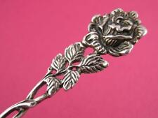 Vintage 835 Silver SPOON w/ floral rose handle ~ $24 each
