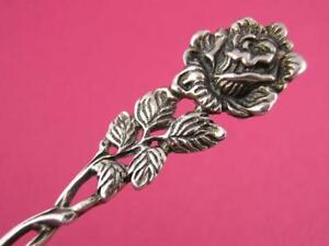 Vintage 835 Silver SPOON w/ floral rose handle ~ $24 each